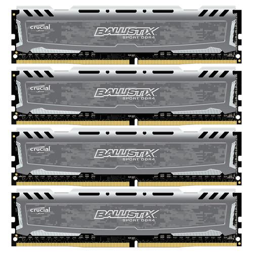 Ballistix 64GB Ballistix Sport DDR4 2400 MHz UDIMM Memory Module Kit (4 x 16GB)