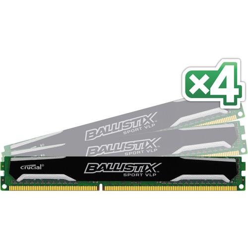 Crucial 16GB Ballistix Sport DDR3 1600 MHz UDIMM Memory Module Kit (4 x 4GB)
