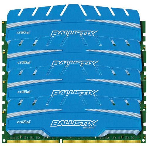 Ballistix 16GB Ballistix Sport DDR3 1866 MHz UDIMM Memory Module Kit (4 x 4GB)