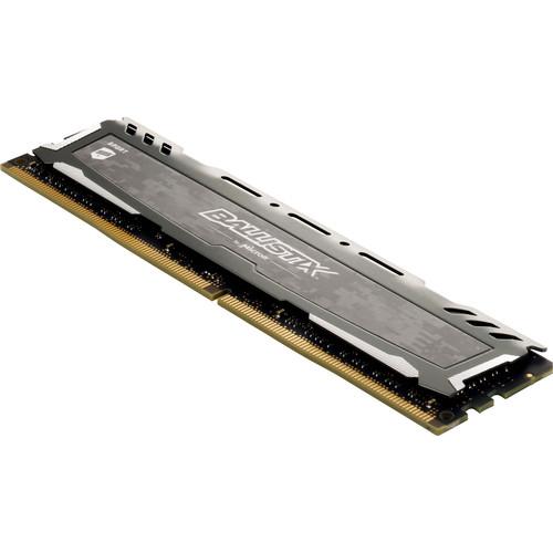 Ballistix 8GB Sport LT Series DDR4 2400 MHz UDIMM Memory Module (Gray)