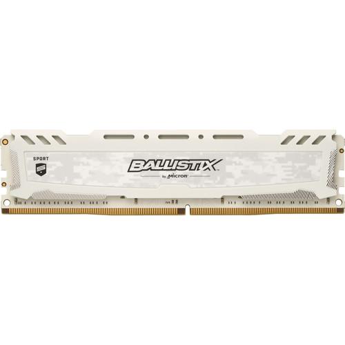 Ballistix 8GB Sport LT Series DDR4 2400 MHz UDIMM Memory Module (White)
