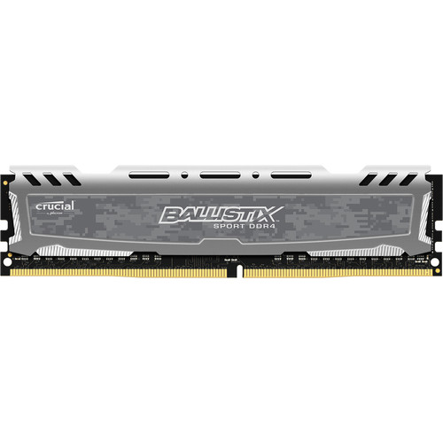 Ballistix 8GB Sport LT Series DDR4 2666 MHz UDIMM Memory Module (Gray)