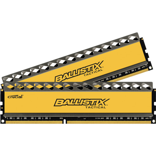 Ballistix 16GB Ballistix Tactical Series DDR3 1866 MHz UDIMM Memory Module Kit (2 x 8GB)