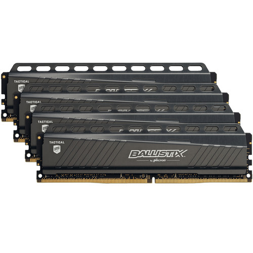 Ballistix 64GB Tactical Series DDR4 3000 MHz UDIMM Memory Module Kit (4 x 16GB)