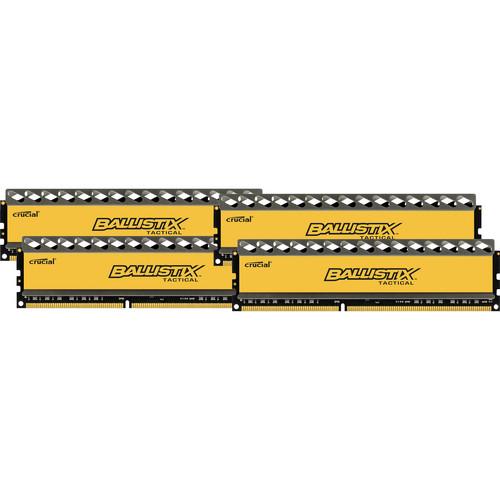 Crucial 16GB Ballistix Tactical Series DDR3 1600 MHz UDIMM Memory Module Kit (4 x 4GB)