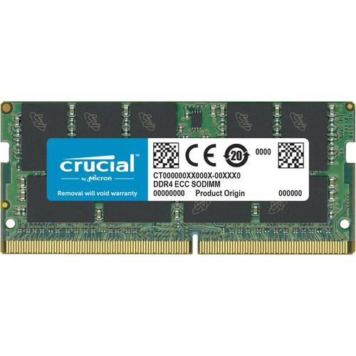 Crucial 16GB DDR4  2666Mt/S (PC4-21300) CL19 DR X8 ECC Sodimm 260Pin