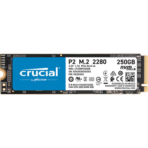 Crucial 250GB P2 NVMe PCIe M.2 Internal SSD
