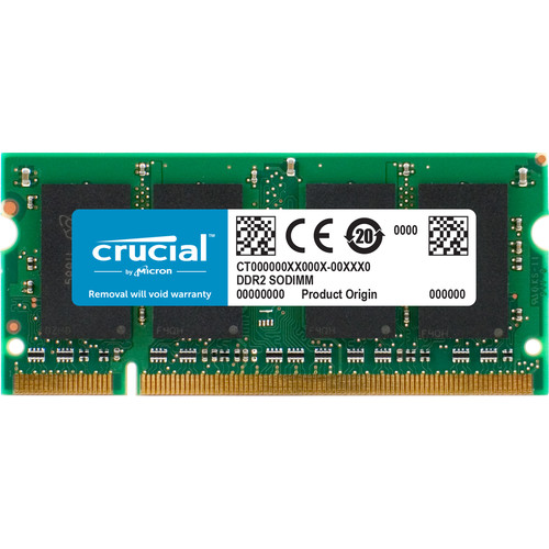 Crucial 2GB 200-Pin SODIMM DDR2 PC2-6400 Memory Module for Macintosh
