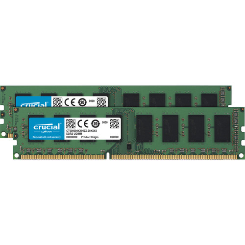 Crucial 16GB DDR3L 1600 MHz UDIMM Memory Kit (2 x 8GB)