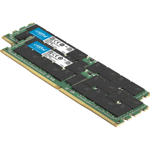 Crucial 256GB (128GBx2) DDR4  2666 Mt/S (PC4-21300) CL19 Qr X4 ECC Registered Dimm 288Pin