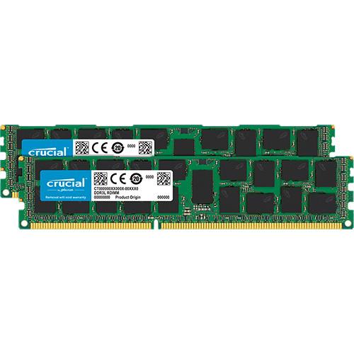Crucial 32GB DDR3 1600 MHz ECC RDIMM Memory Module Kit (2 x 16GB)