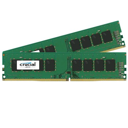 Crucial 32GB DDR4 2400 MHz UDIMM Memory Kit (2 x 16GB)