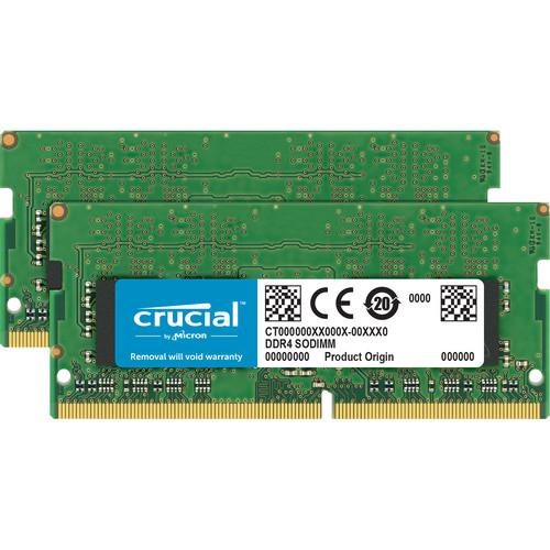 Crucial 32GB DDR4 2133 MHz SO-DIMM Memory Kit (2 x 16GB)