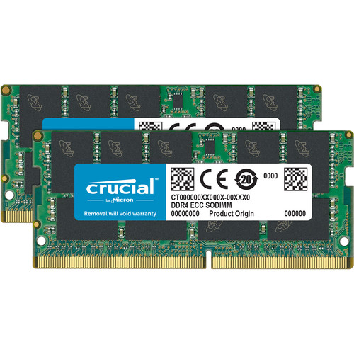 Crucial 32GB DDR4 2666 MHz 260-Pin SO-DIMM Memory Module Kit (2 x 16GB)
