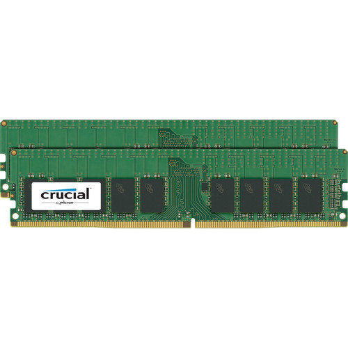Crucial 32GB DDR4 2133 MHz UDIMM Memory Kit (2 x 16GB)
