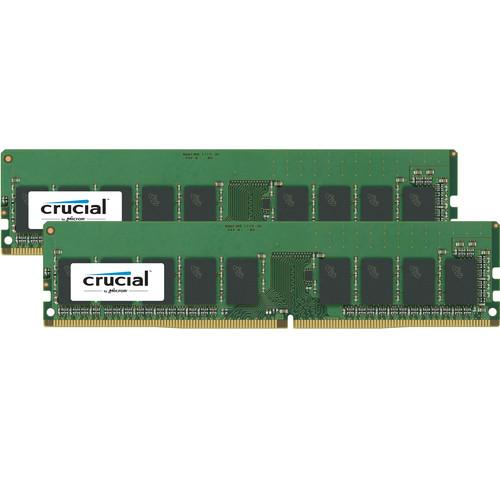 Crucial 32GB DDR4 2400 MHz UDIMM VLP Memory Kit (2 x 16GB)