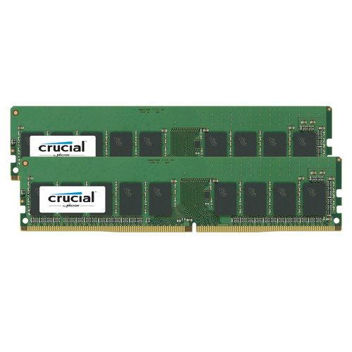 Crucial 32GB DDR3 1600 MT/s UDIMM Memory Kit (2 x 16GB)