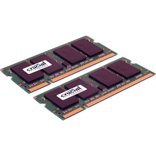 Crucial 4GB (2 x 2GB) 200-pin SODIMM DDR2 PC2-5300 Memory Module Kit for Mac