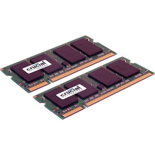 Crucial 4GB (2 x 2GB) 200-pin SODIMM DDR2 PC2-5300 Memory Module Kit for Mac