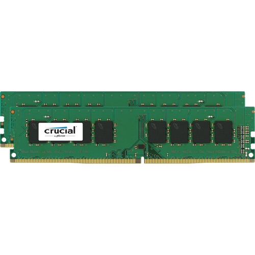 Crucial 4GB DDR4 2400 MHz ECC x16 Unbuffered DIMM Memory Kit (2x2GB)