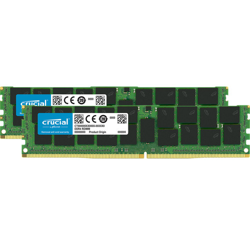 Crucial 64GB DDR4 2666 MT/s LRDIMM Memory Kit (2 x 32GB)