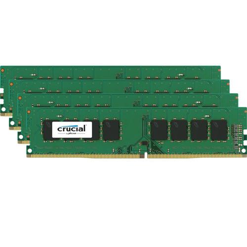 Crucial 8GB DDR4 2400 MHz ECC x16 Unbuffered DIMM Memory Kit (4x2GB)