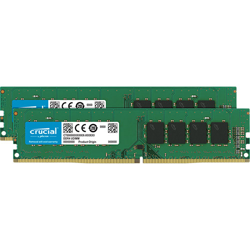 Crucial 8GB DDR4 2400 MHz UDIMM Memory Kit (2 x 4GB)