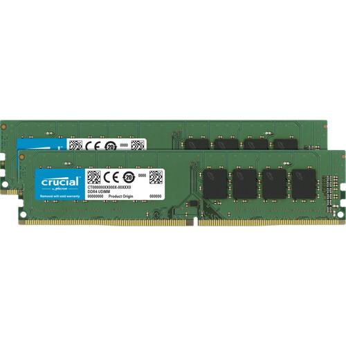 Crucial 16GB Desktop DDR4 2666 MHz UDIMM Memory Kit (2 x 8GB)