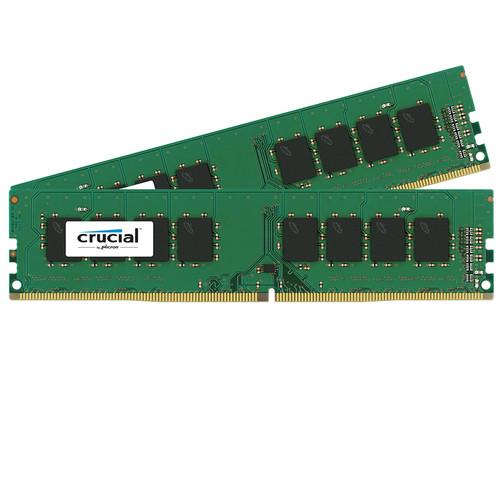 Crucial 16GB (2 x 8GB) UDIMM DDR4-2400 PC4-19200 Memory Module Kit