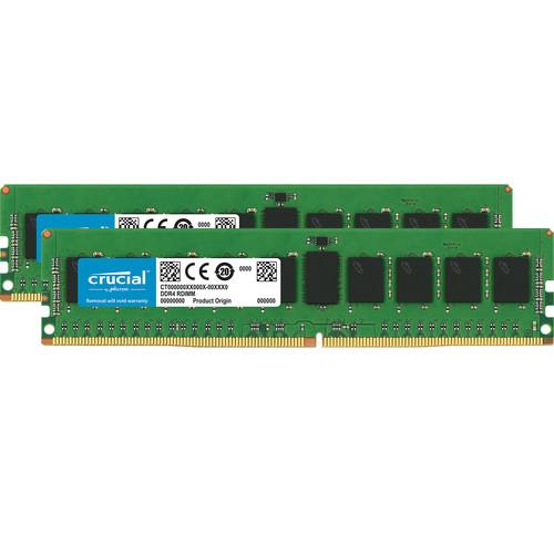 Crucial 16GB DDR4 2666 MHz RDIMM Memory Kit (2 x 8GB)