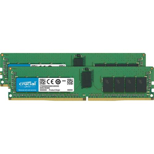 Crucial 16GB DDR4 2666 MT/s ECC UDIMM Memory Kit (2 x 8GB)