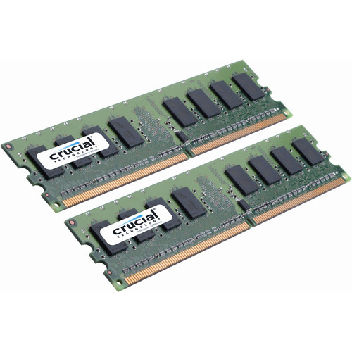 Crucial 4GB DDR2 800 MHz UDIMM Memory Kit (2 x 2GB)