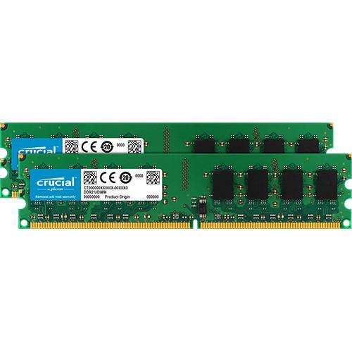 Crucial 8GB DDR2 667 MHz UDIMM Memory Module Kit (2 x 4GB)