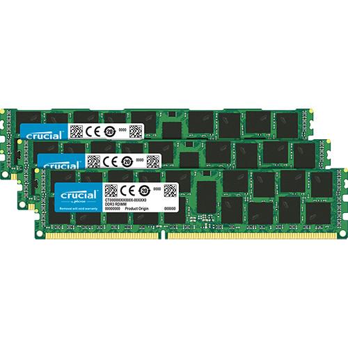 Crucial 48GB DDR3 1600 MHz ECC RDIMM Memory Module Kit (3 x 16GB)