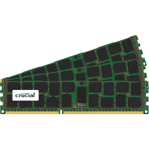 Crucial 48GB (3 x 16GB) 240-Pin DIMM DDR3 PC3-12800 Memory Module Kit