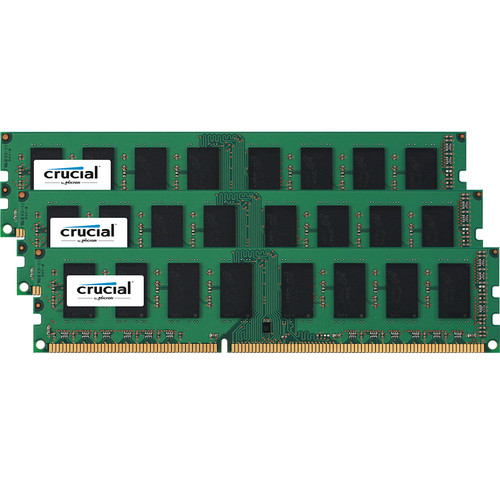 Crucial 48GB DDR3 1600 MT/s UDIMM Memory Kit (3 x 16GB)