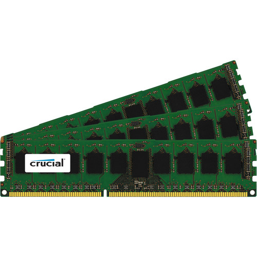 Crucial 12GB (3 x 4GB) 240-Pin DIMM DDR3 PC3-14900 Memory Module Kit