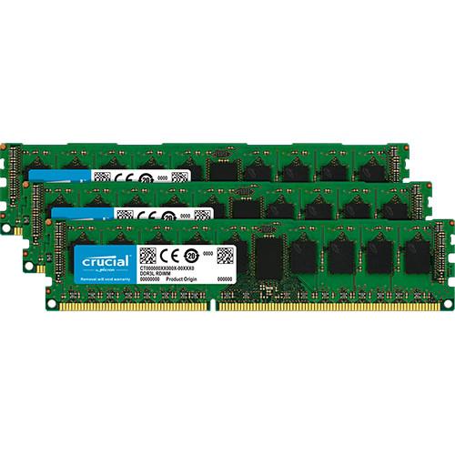 Crucial 24GB DDR3L 1600 MHz UDIMM Memory Module Kit (3 x 8GB)