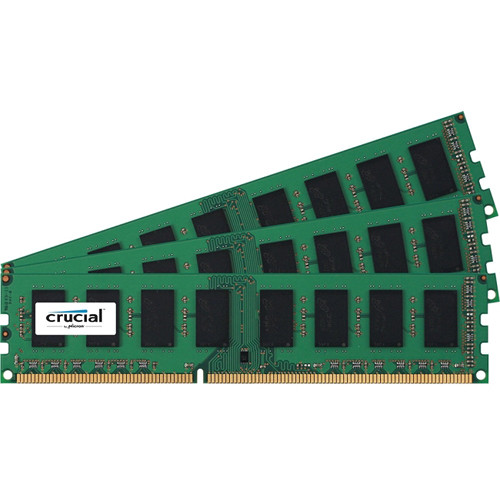 Crucial 12GB (3 x 4GB)GB 240-Pin DIMMDDR3 PC3-12800 Memory Module