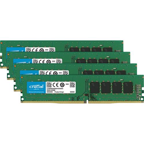 Crucial 64GB DDR4 2666 MHz DIMM Memory Module Kit (4 x 16GB)