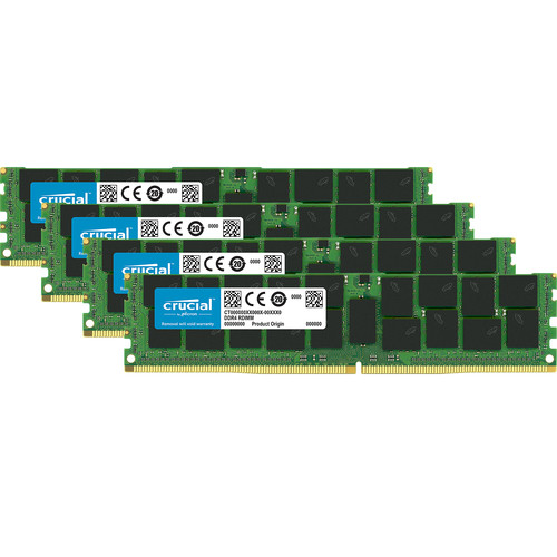 Crucial 64GB DDR4 2666 MHz RDIMM Memory Kit (4 x 16GB)