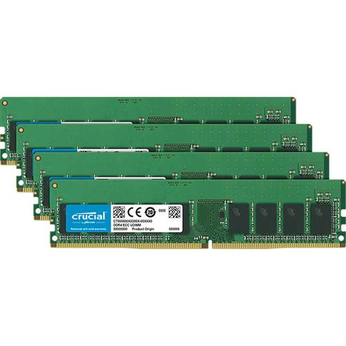 Crucial 64GB Kit (16GBx4) DDR4  2666Mt/S (PC4-21300) CL19 DR X8 ECC Unbuffered Dimm 288Pin