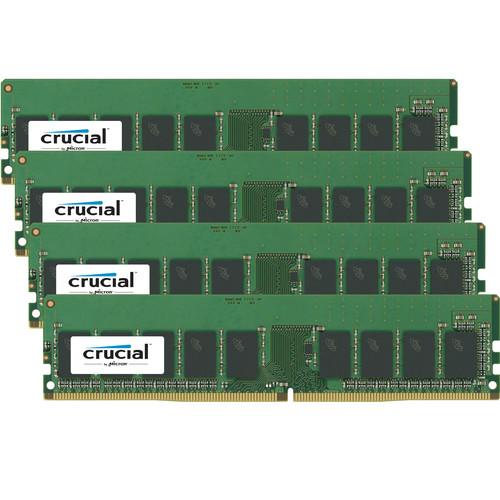 Crucial 64GB DDR4 2400 MHz UDIMM VLP Memory Kit (4 x 16GB)
