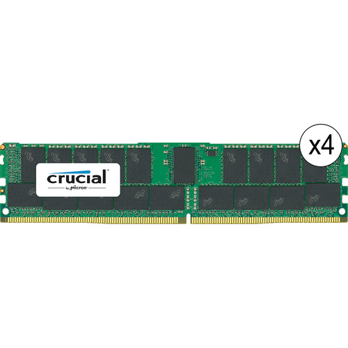 Crucial 128GB DDR4 2133 MHz RDIMM Memory Kit (4 x 32GB)