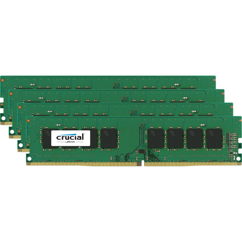 Crucial 16GB DDR4 2400 MHz ECC x16 Unbuffered DIMM Memory Kit (4x4GB)
