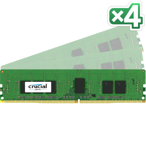 Crucial 16GB DDR4 2400 MHz RDIMM Memory Kit (4 x 4GB)