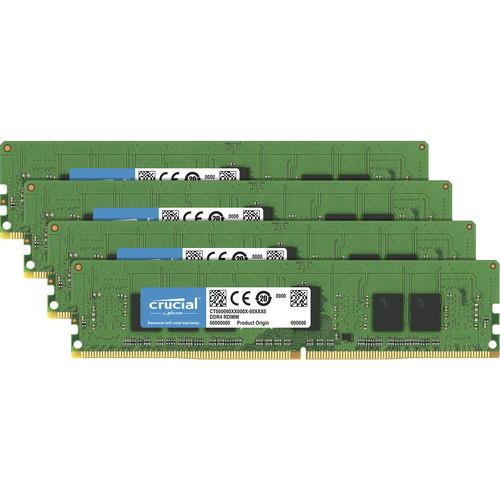 Crucial 16Gb Kit (4GBx4) DDR4 2400 MT/S (PC4-19200) CL17 SR X8 Unbuffered Sodimm 260 Pin