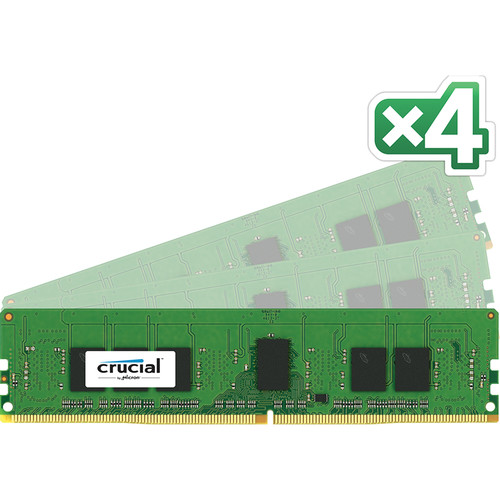 Crucial 16 (4 x 4 GB) GB CL15 DDR4 PC4-17000 UDIMM Memory Module Kit