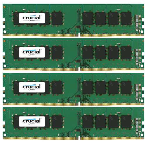 Crucial 16GB DDR4 2400 MT/s UDIMM Memory Kit (4 x 4GB)