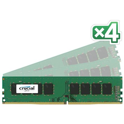 Crucial 32GB DDR4 2133 MHz UDIMM Memory Kit (4 x 8GB)